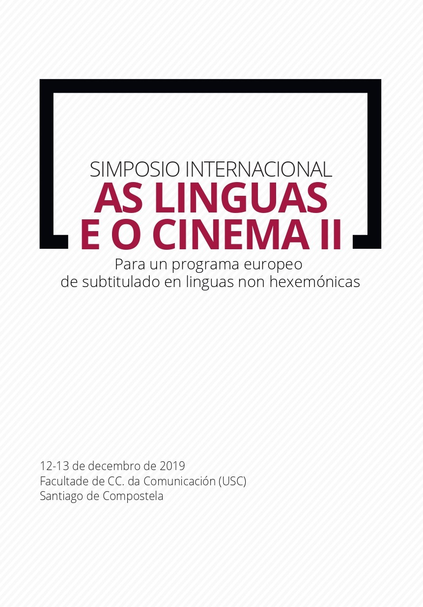 Simposio internacional 'As Linguas e o Cinema'