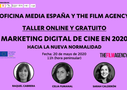 Taller online: Marketing Dixital de cine