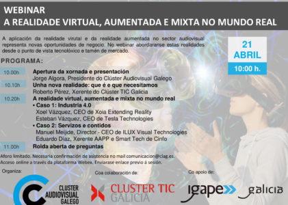Webinar A realidade virtual, aumentada e mixta no mundo real