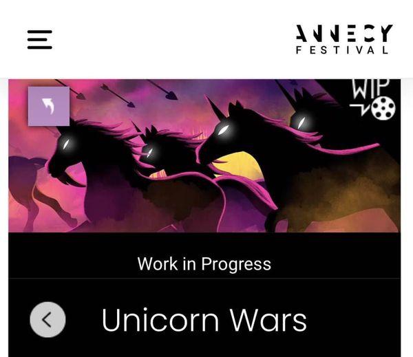 'Unicorn Wars' seleccionada do Work in Progress do Festival Internacional de animación de Annecy